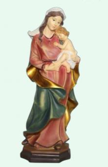 Madonna med barn, målad (40 cm)