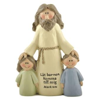 Jesus med två barn - Låt barnen komma till mig