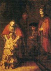 Vykort Förlorade sonen (Rembrandt)