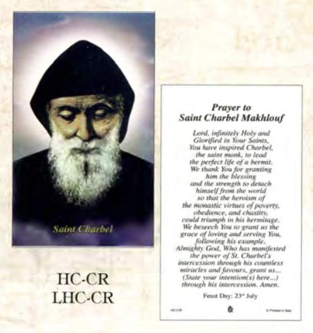 Bönekort, Charbel Makhlouf (eng.)