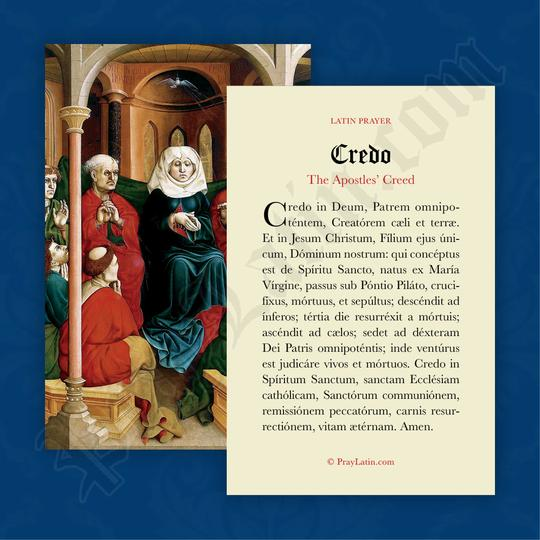 Credo (Trosbekännelsen, latin)