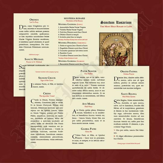 Bönekort Latin