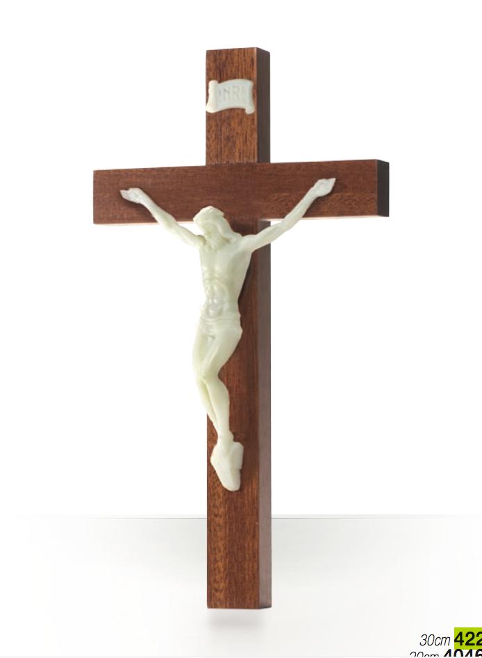 Krucifix, trä, självl. corpus, 30 cm