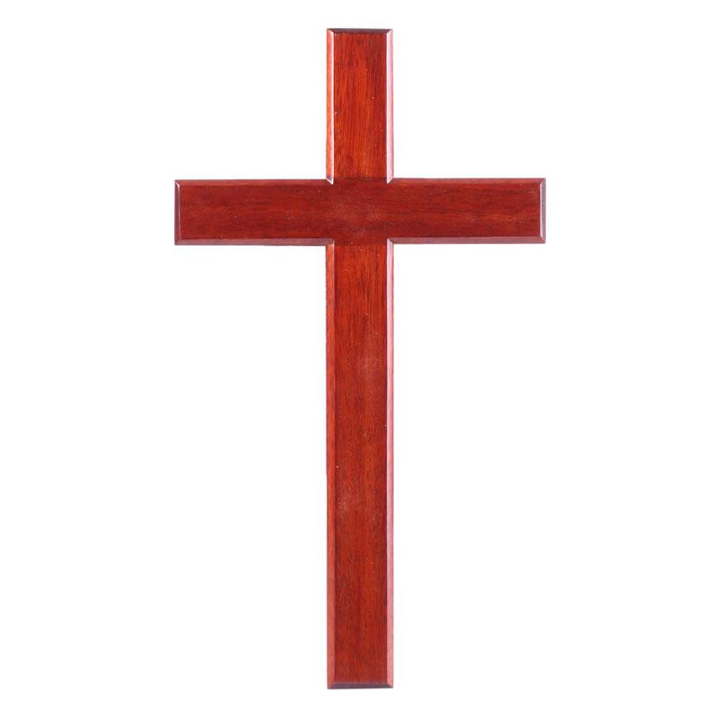 Kors, mahogny, S (15 cm)