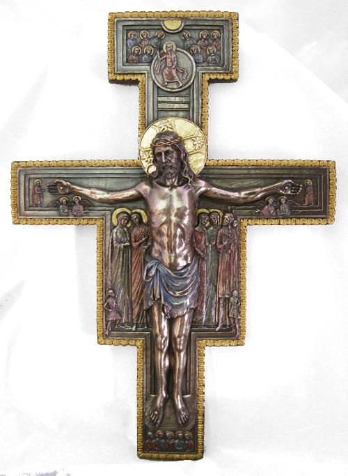 San Damiano-kors, relief, stort