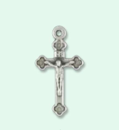 Krucifix, metall, 27mm
