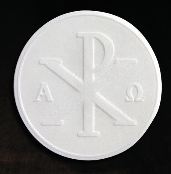 Präst-hostior, vita 67mm (50-pack)