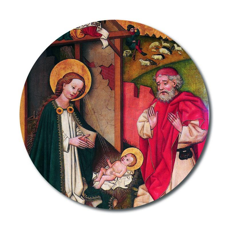 Kristi födelse, rund magnet, ca 6cm