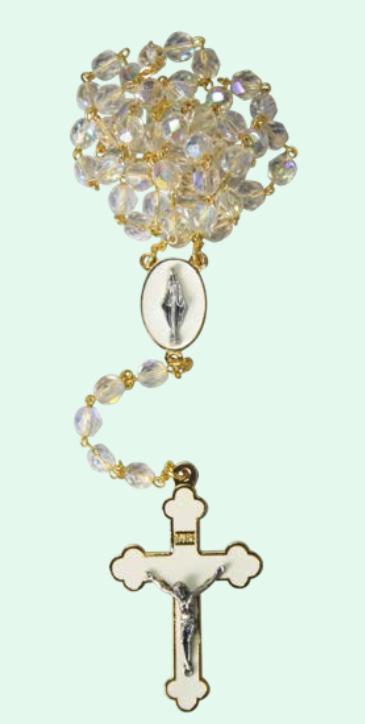 Rosenkrans vit kristall