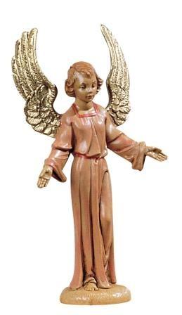 Stående ängel, rosa, 10 cm