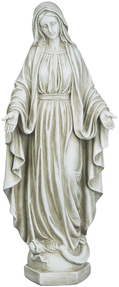 Maria, stående, naturfärgad (40 cm)