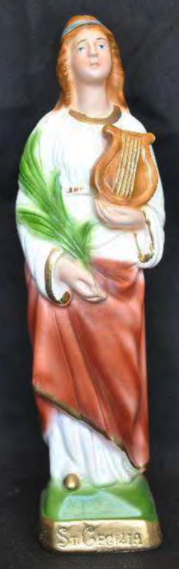 Heliga Cecilia, 20cm, resin