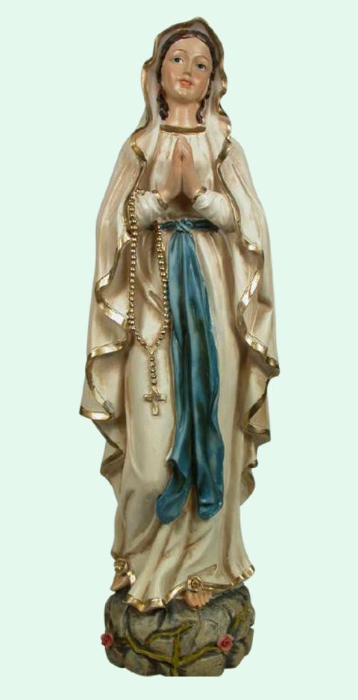 Madonna Lourdes, 40cm, inomhus