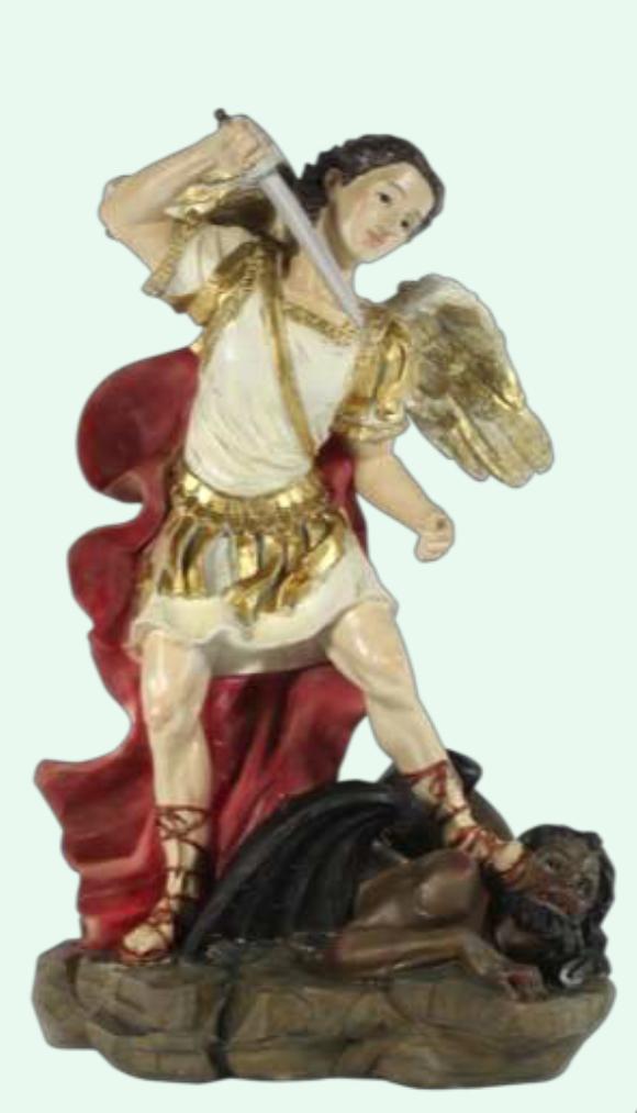 Ärkeängeln Mikael bekämpar djävulen (12 cm)