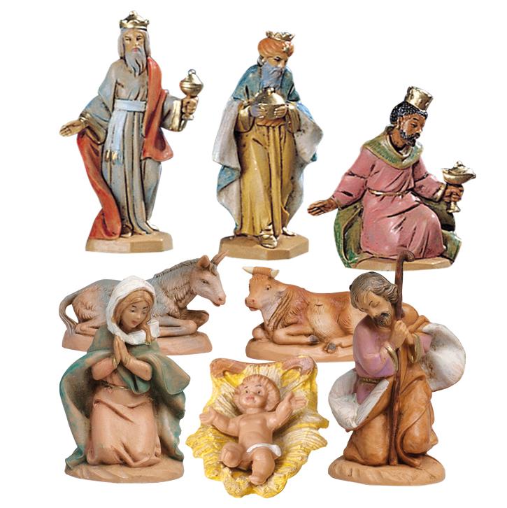 Krubbfigurer (8 st, 6,5 cm)