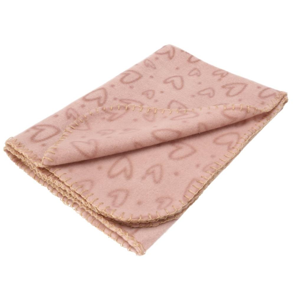 Fleecefilt Heart rosa