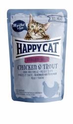 Happy Cat Våtfoder Adult Sterilised med Kyckling & Forell