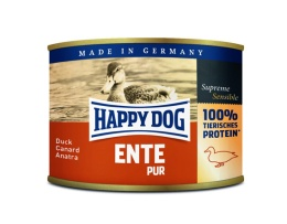 Happy Dog konserv, 100% animalisk, Anka