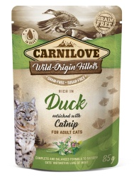 Carnilove Cat Pouch Duck enriched with Catnip 85 g