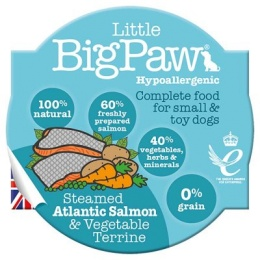 Little Big Paw Steamed Atlantic Salmon & Vegetables