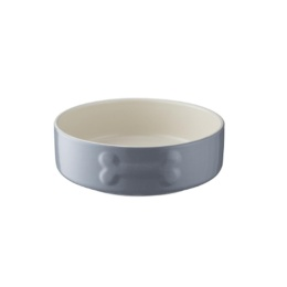 Keramikskål Grå/Vit med benmotiv