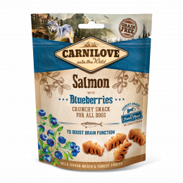 Carnilove Dog Crunchy Snack Salmon & Blueberries with fresh meat
