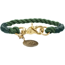 Hunter List halsband med mässingshake