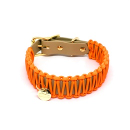 Stilhütte Halsband Paracord Orange