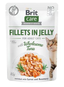 Brit Care Cat Pouch, Fillets in Jelly with Tuna 85 g