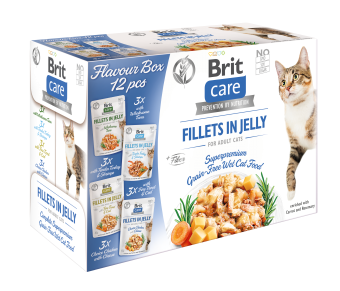 Brit Care Cat Pouch, Flavour Box Fillet in Jelly 12x85 g