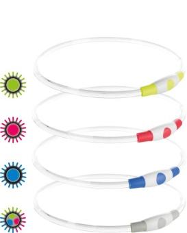 Trixie Blinkhalsband USB Multifärgad