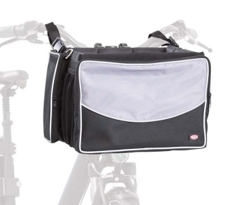 Trixie Cykelkorg front, svart/grå