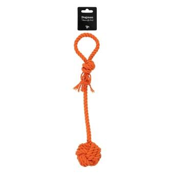 Dogman Orange boll med rep