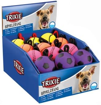 Trixie Mjuk gummiboll med rep