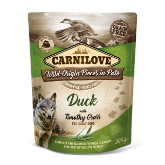 Carnilove Dog Pouch Paté Duck with Timothy Grass 300 g