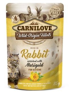 Carnilove Cat Pouch Rabbit enriched with Marigold 85 g for Kitten