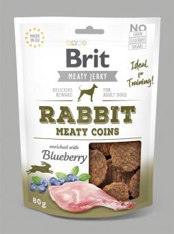 Brit Jerky Snack, Rabbit Meaty Coins 80g