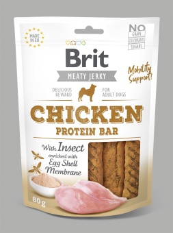 Brit Jerky Snack, Chicken & Insect Protein Bar 80g