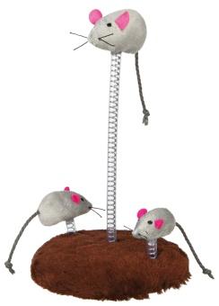 Trixie Kattleksak musfamilj, ø 15 × 22 cm