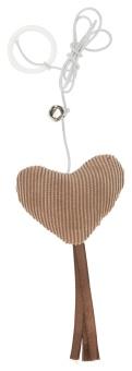 Trixie Hjärta med fransar och rep,6 cm/65 cm
