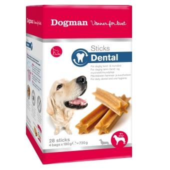 Dogman Sticks Dental box 28-p