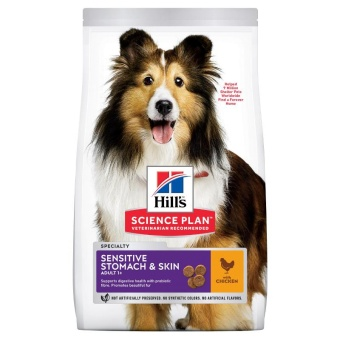 Hills SP  Canine Adult Sen.Stomach&Skin Medium Chicken