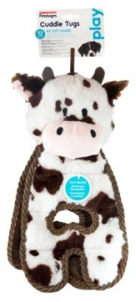 Petstages Cuddle Tug Cow