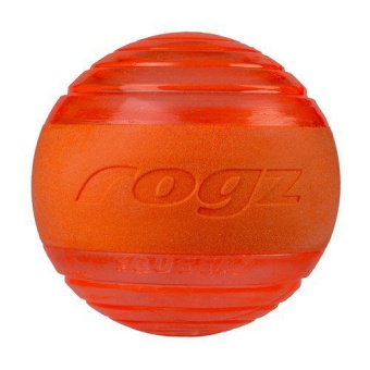 Rogz Squeeks Ball Orange 6,4cm