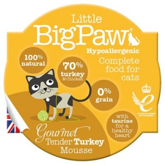 Little Big Paw Gourmet Tender Turkey Mousse