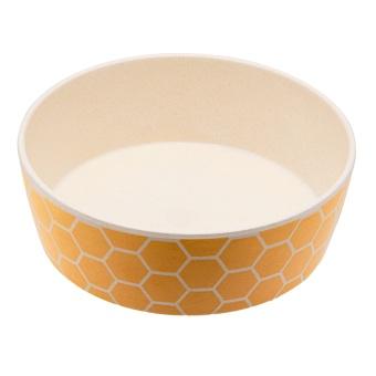 Beco ECO-växtfiber skål Bees gul/vit