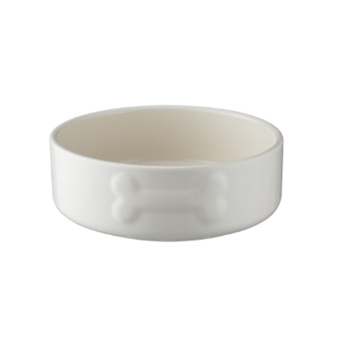 Keramikskål Vit med benmotiv