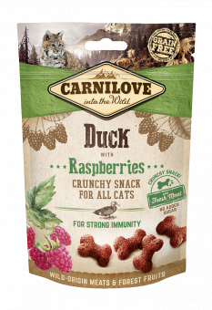 Carnilove Cat Crunchy Snack Duck with Raspberries