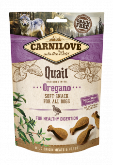 Carnilove Dog Snack Semi Moist Quail enriched with Oregano