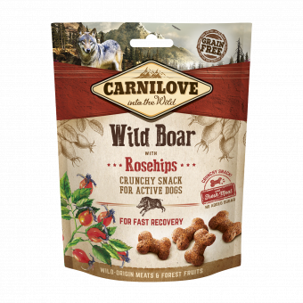 Carnilove Dog Crunchy Snack Wild Boar & Rosehips with fresh meat